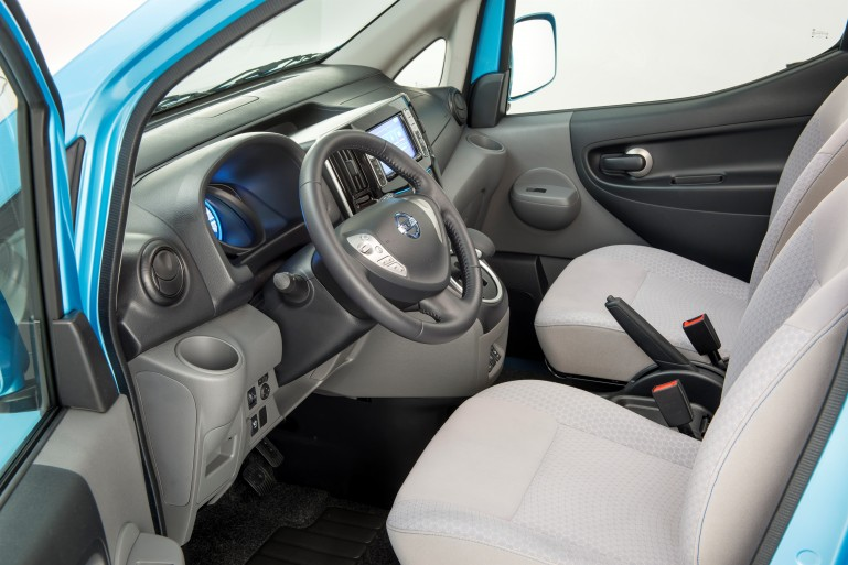 Nissan e-NV200 front seats and steering wheel