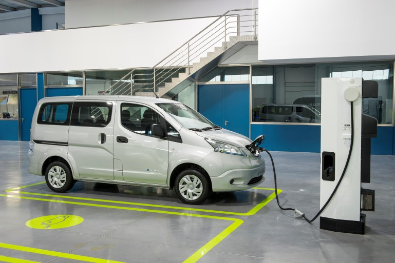 Nissan e-NV200 passenger version charging up