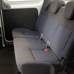 Rear seats in e-NV200 van