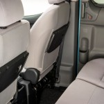 e-NV200 electric minivan comes with flip down trays for the second row